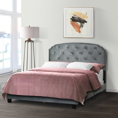 Winston Porterbreck Queen Upholstered Standard Bed Winston Porter Color Gray Velvet Dailymail