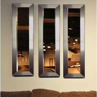 3 Piece Wanneroo Petite Panels Modern and Contemporary Mirror Set