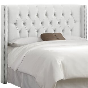 Compare prices Drage Diamond Tufted Upholstered Wingback Headboard by Willa Arlo Interiors