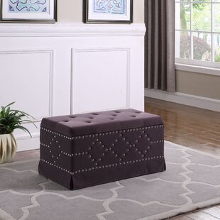 Mercer41 Amador Nailhead Studs Tufted Upholstered Storage Bench