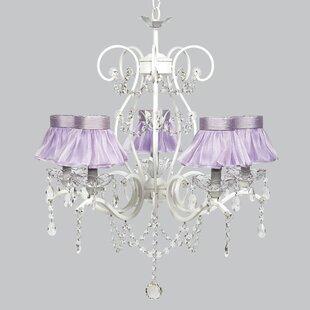 Purple shade chandeliers youll love wayfair grace 5 light crystal chandelier aloadofball Images