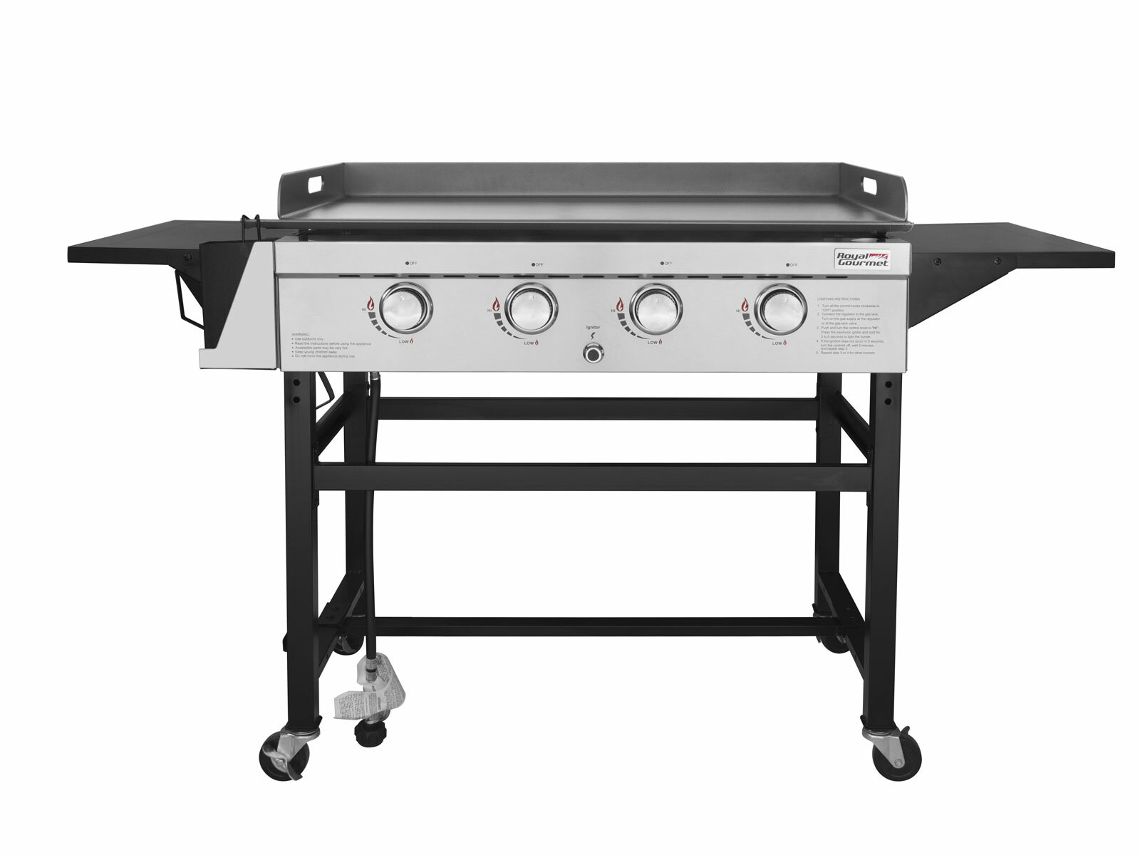 Stainless Steel Flat Top Griddle Grill Topper Outdoor Gas Stove Cover Plate Pan