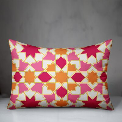 Revell Tile Indoor/Outdoor Lumbar Pillow by Bungalow Rose New