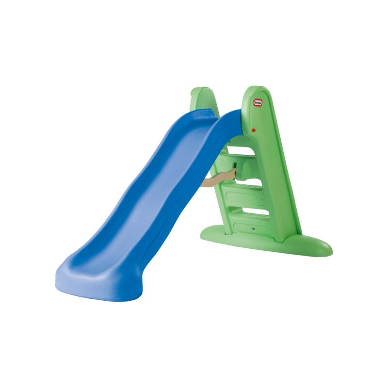 Medium-sized Garden Folding Slide for Kids Foldable for Easy Storage Use for Indoor Outdoor Garden Playground Children Toddlers Safety Plastic Primary Climb Toy Color : Blue