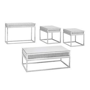 Everly Quinn Verlin 4 Piece Coffee Table Set