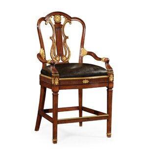 Buckingham Neo-Classical Gilded Lyre Back 33.25 Bar Stool Fresh