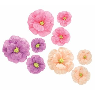Hanging flowers wayfair 9 piece assortment hanging paper flower set mightylinksfo