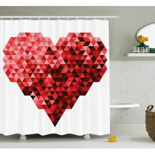 Heart Single Shower Curtain