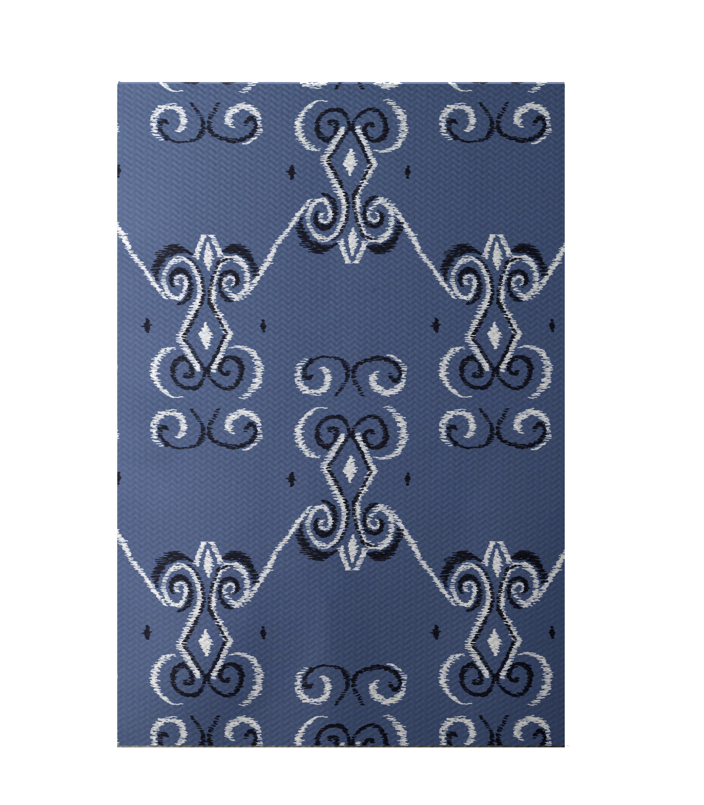 E By Design On The Line Print Cadet Area Rug Wayfair