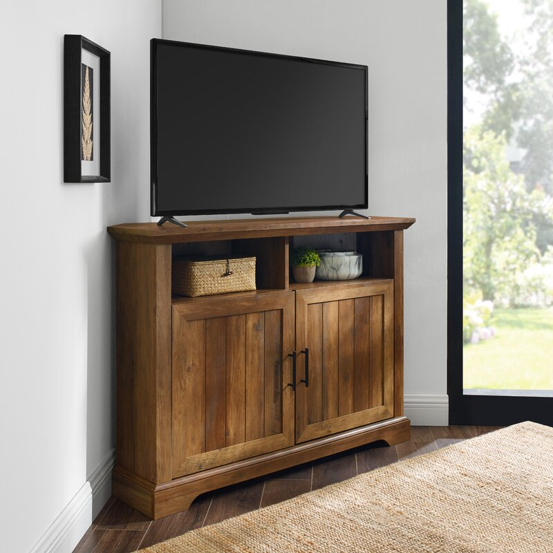 Tomball Corner Tv Stand For Tvs Up