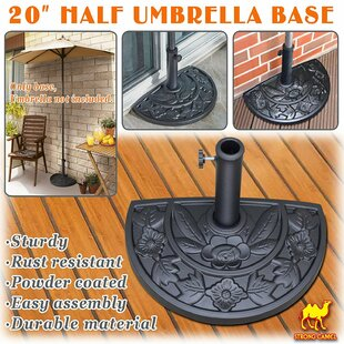 Levitt Half Round Resin Free Standing Umbrella Base Stand