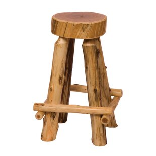 Traditional Cedar Log 30 Bar Stool Fireside Lodge