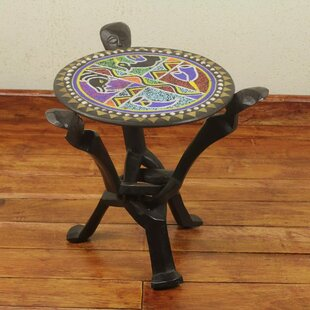 Ronnie Unity Beaded Folding End Table
