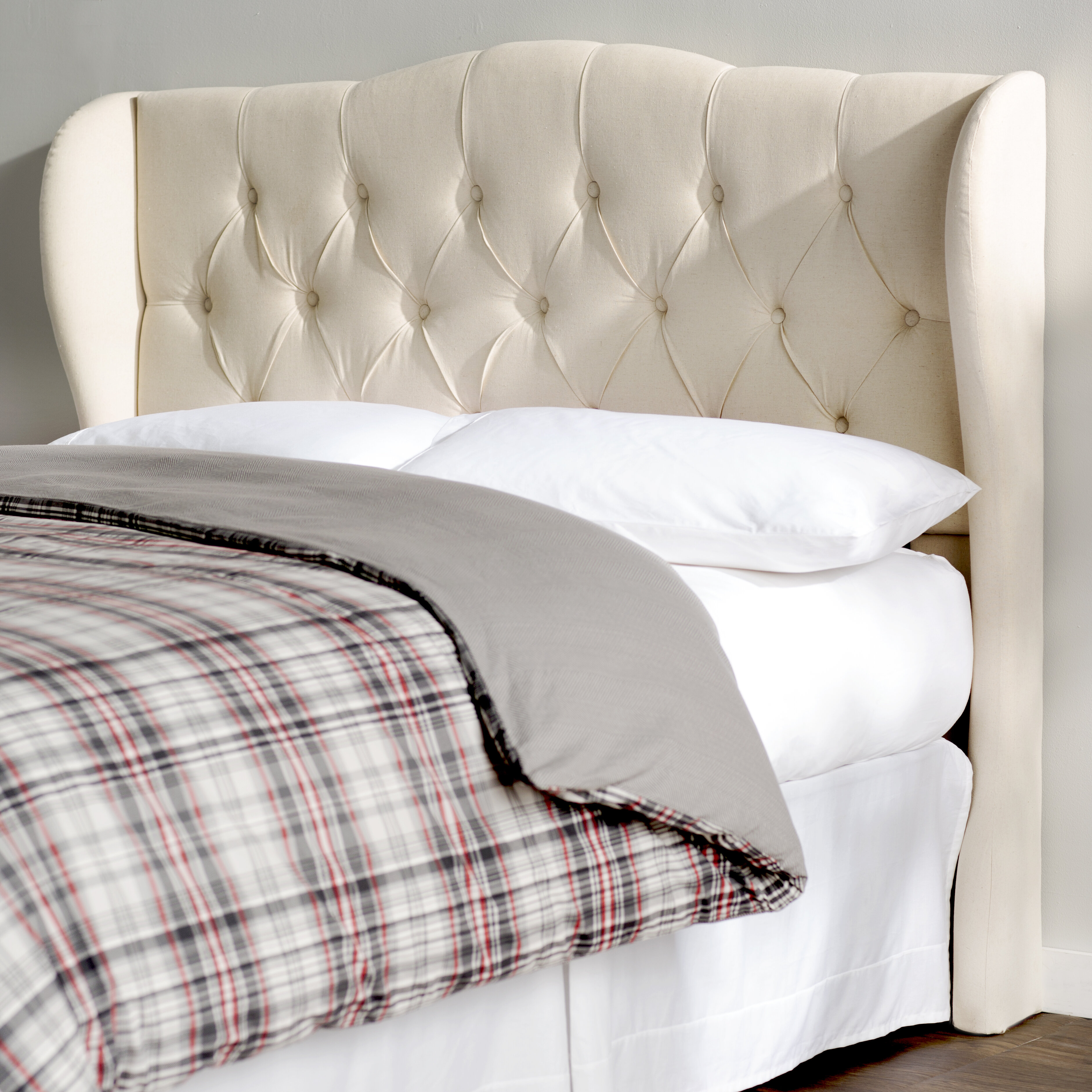 size bed ivory upholstered queen with tufted wingback headboard button products