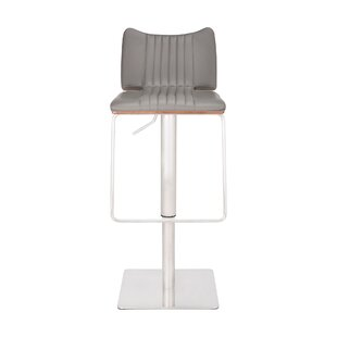 Vanwormer Adjustable Height Swivel Bar Stool by Orren Ellis
