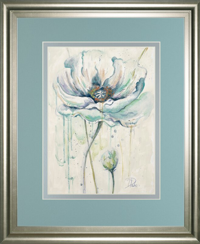 'Fresh Poppies II' by Patricia Pinto Framed Painting Print