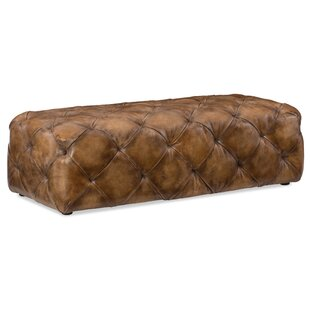 Decorative Leather Cocktail Ottoman