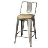 Jericho Middle Back Metal 24 Bar Stool by 17 Stories