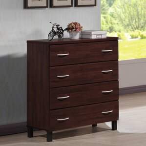 Baxton Studio 4 Drawer Chest by Wholesale Interiors