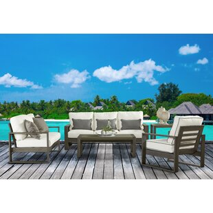 Union Rustic Sheppard Patio 5 Piece Sofa Seating Group with Cushions