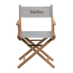 Mayers Embroidered Folding Director Chair by Winston Porter