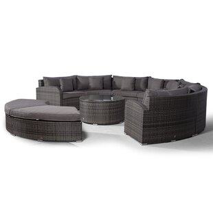 Woody 7 Seater Rattan Conversation Set By Sol 72 Outdoor