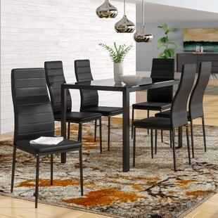 Orren Ellis Renick Modern 7 Piece Dining Set