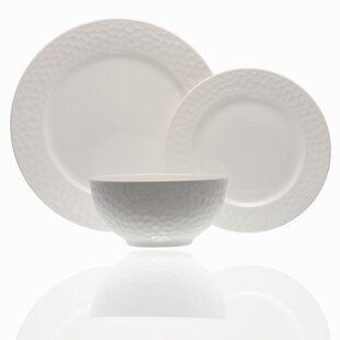Pebble Beach 18 Piece Bone China Dinnerware Set Service For 6