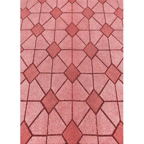 East Urban Home Geometric Wool Red Area Rug Wayfair