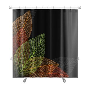 Leaves Skeleton Leaf Premium Single Shower Curtain