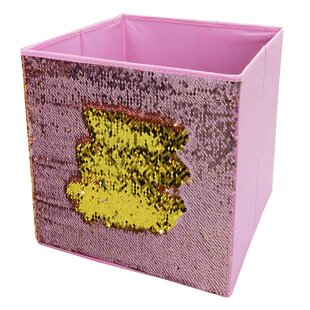 Compare Reversible Mermaid Sequin Storage Fabric Bin By Home Basics