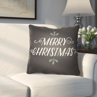 Morrell Merry Christmas Indoor/Outdoor Throw Pillow