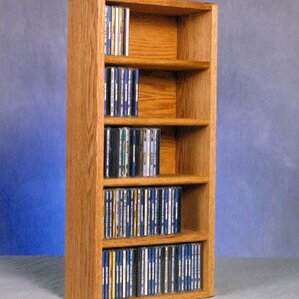 500 Series 130 CD Wall Mounted Multimedia Storage Rack by Wood Shed