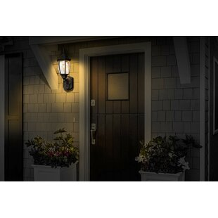 Gladys Coach Aluminum Outdoor Wall Lantern with Motion Sensor by World Menagerie