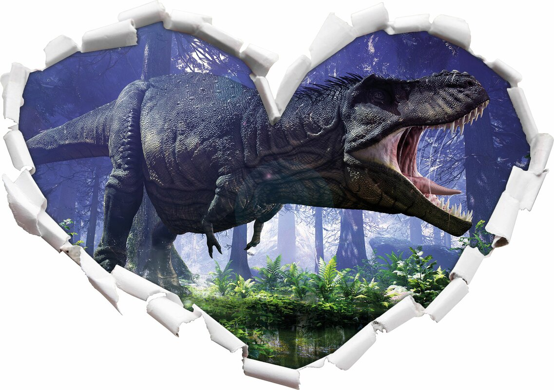 Home loft concept wandtattoo t rex dinosaurier im wald - Wandtattoos dinosaurier ...