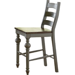 Sandbach Traditional Ladder Solid Wood Dining Chair (Set Of 2) by Three Posts Reviews