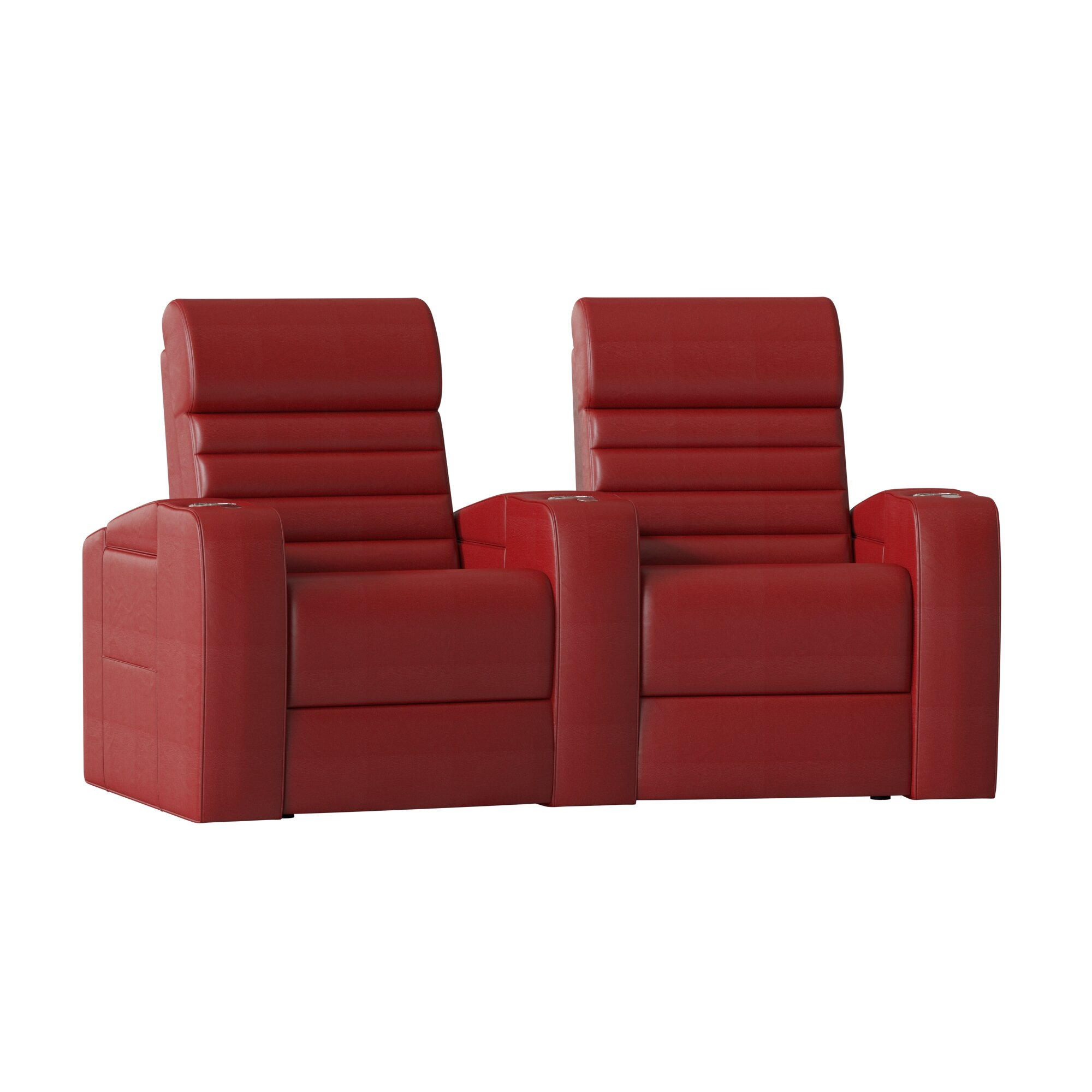 Alexandria Curved Home Theater Loveseat Row Of 2