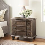 Lavada 3 - Drawer Nightstand in Weather Oak by Three Posts™