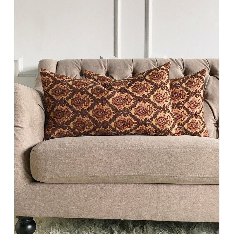 astoria grand ruble french jacquard luxury decorative pillow cover Upscale Decorative Pillows