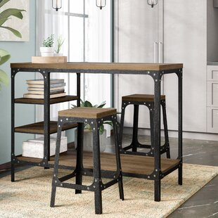 Williston Forge Terence 3 Piece Counter Height Dining Set