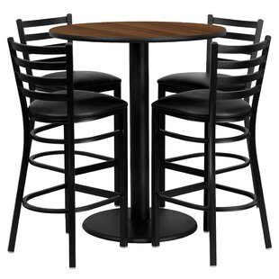 Hemant 5 Piece Pub Table Set b..