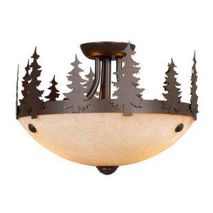 Loon Peak Jennings 2-Light Semi Flush Mount