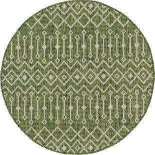 Adley Green/Beige Indoor/Outdoor Area Rug by Gracie Oaks