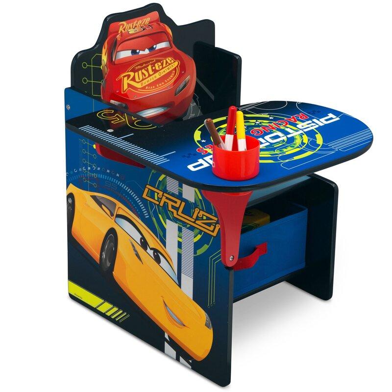 Bon Disney/Pixar Cars Kids Chair Desk With Storage Compartment
