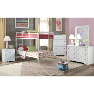 Ezekiel Twin over Twin Standard Bunk 5 Piece Bedroom Set by Harriet Bee