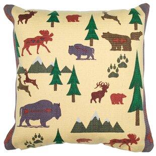 Wild Trek Cotton Throw Pillow