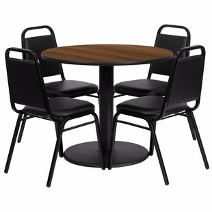 Amato Modern Round 5 Piece Dining Set