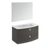 Durham Contemporary 39 Single Bathroom Vanity Set with Mirror by Orren Ellis