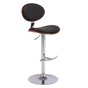 Puentes Adjustable Height Swivel Bar Stool Orren Ellis