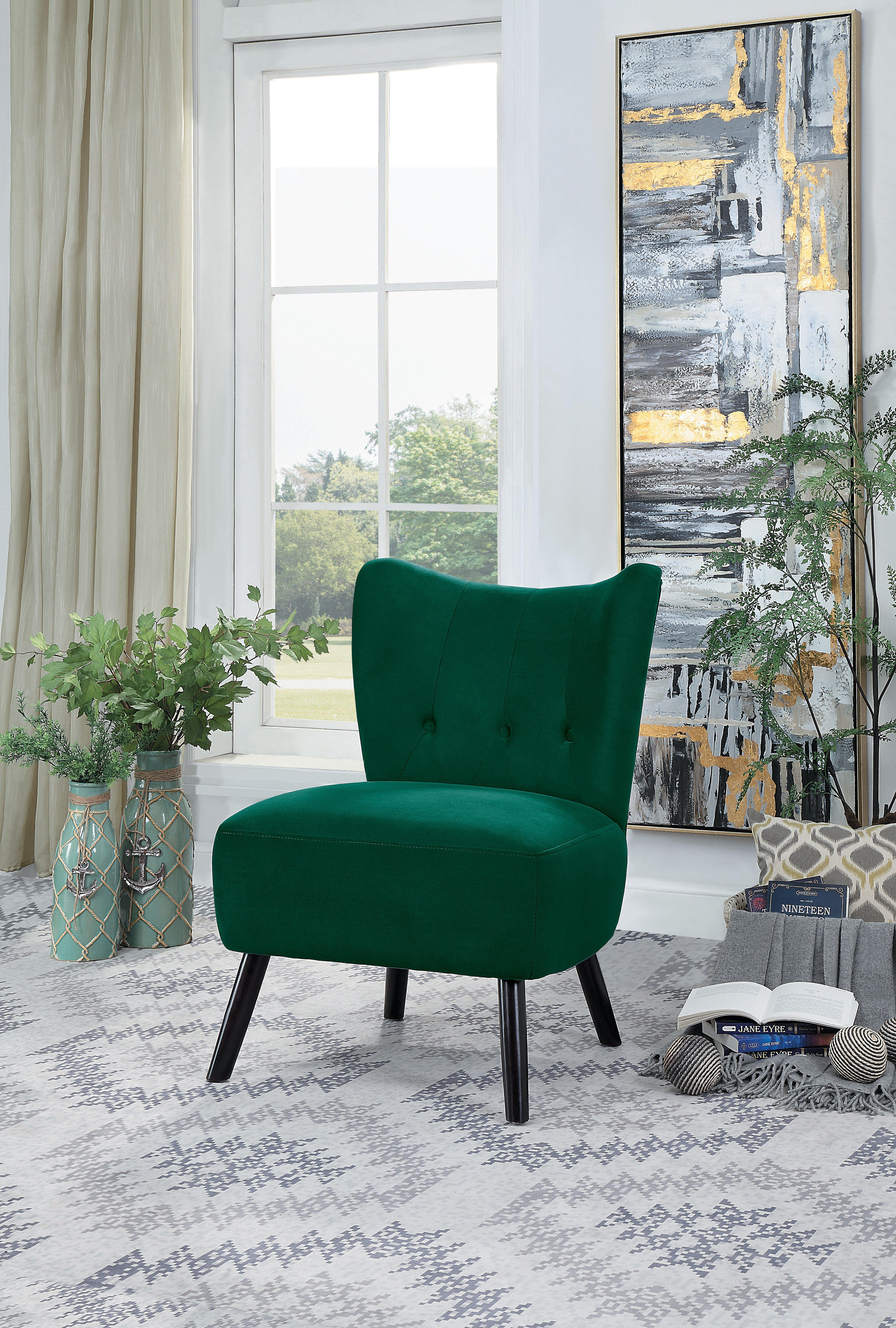 Green Velvet Accent Chairs You Ll Love In 2021 Wayfair